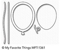 MFT-1361 My Favorite Things Mini Balloon Shaker Window & Frame Die-Namics