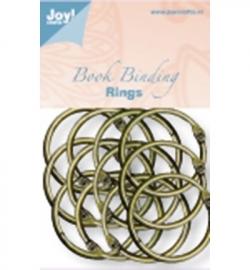 6200/0132 Boekbinders-ringen Antiek/koper 35 mm