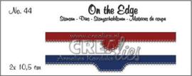 115634/1844 Crealies On the Edge no. 44 2x pocket openingen CLOTE44 2x 10,5 cm