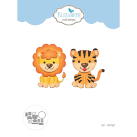 "EC1617 Elizabeth Craft Metal Die Lion/Tiger 2""X2.3"""