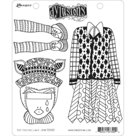 "617535 Dyan Reaveley's Dylusions Cling Stamp The Ties The Limit! 8.5""X7"""