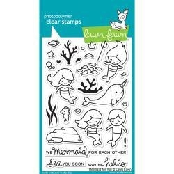 LF1167 Lawn Fawn Clear Stamps Mermaid For You