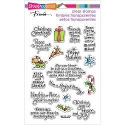 464582 Stampendous Perfectly Clear Christmas Stamps Holiday Expressions