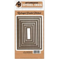603066 Art Impressions Die Rectangle A2 Double Stiched