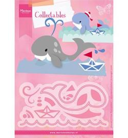 COL1430 Marianne Design Eline's Tropical fish Eline's whale