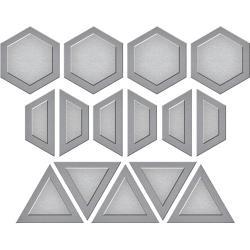 S3285 Spellbinders Shapeabilities Die D-Lites By Lene Lok Quilt It-Gems Quilt