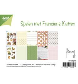 6011/0578 Papierset  A4 Spelen met Franciens Katten