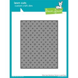 LF1831 Lawn Cuts Custom Craft Die Polka Heart Backdrop Portrait
