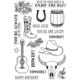 "252063 Hero Arts Clear Stamps Cowboy Life 4""X6"""