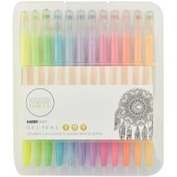 275675 KaiserColour Gel Pens 12 Pastel Colors & 12 Glitter Colors