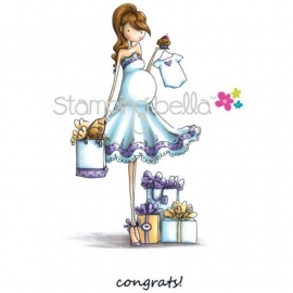283315 Stamping Bella Cling Rubber Stamp Uptown Girl Brynn Has A Baby Shower