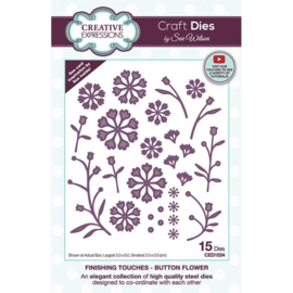 CED1534 Creative Expressions Craft die finishing touches Button flower