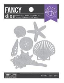 656509 Hero Arts Fancy Dies Seashells