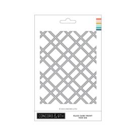 653262 Concord & 9th Dies Thin Plaid Card Front