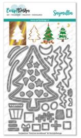 CDSN-0113 CarlijnDesign Snijmallen Outline Kerstboom