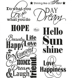 4003.142.00  Viva Clear Stamps Spruche I