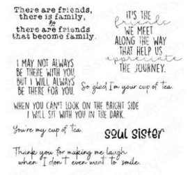 EB951 Stamping Bella Cling Stamps Friendship Sentiment Set