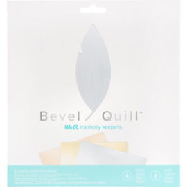 "WR661146 We R Memory Keepers Bevel Quill Board Sheets 8""X8"" 6/Pkg"