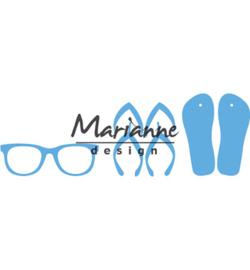 LR0477 Marianne Design Creatables Flip flops & sun glasses