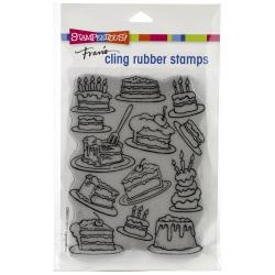 580554 Stampendous Cling Stamp Cake Background