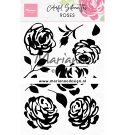 CS1046 Marianne Design Colorful Silhouette Roses