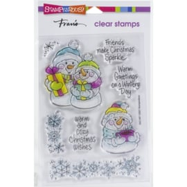 SSC1407 Stampendous Perfectly Clear Stamps Snow Time Frame