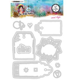 ABM-SFT-CD19 StudioLight ABM Cutting Die Mini-tags So-Fish-Ticated nr.19