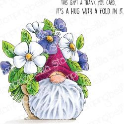584714 Stamping Bella Cling Stamps Flowery Gnome