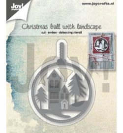 6002/1347 Joy!Crafts Cutting & embossing Kerstbal met landschap