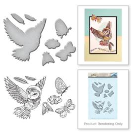 SDS039 Spellbinders Stamp & Die Set Owl
