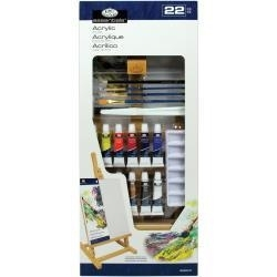 "513894 Easel Art Set Medium Acrylic ""H"" Set 22pc"