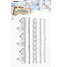 STAMPCNB517	StudioLight Clear Stamp background Celebrate new beginnings nr.517