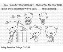 CS-390 My Favorite Things Builder Bears Clear Stamps