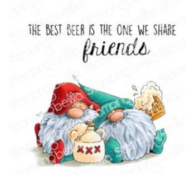EB941 Stamping Bella Cling Stamps Beer Gnomes