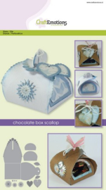 115633/1501 CraftEmotions Die chocolate box scallop Card A5 box