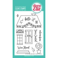 "492754 Avery Elle Clear Stamp Set Welcome Home 4""X6"""