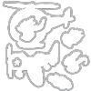 573195 Hero Arts Frame Cut Dies Fly High Animals