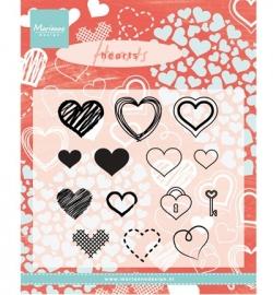 CS0950 Stempel Hearts set