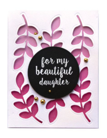 STP-006 Spellbinders Family Sentiments Clear Stamps