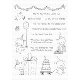 "SY23 My Favorite Things Stacey Yacula Stamps Pawty Time 6""X8"""