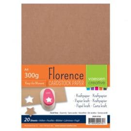 2920-0102 Florence kraft papier A4