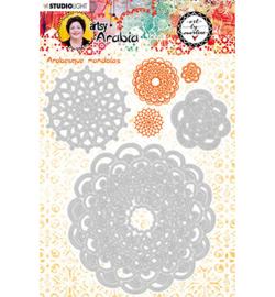 STENCILBM10 Art By Marlene Cutting & Embossing Die Artsy Arabia, nr.10