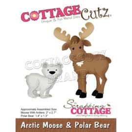 "CC702 CottageCutz Dies Arctic Moose & Polar Bear, 1.3"" To 2.7"""
