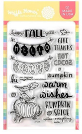 "605615 Waffle Flower Crafts Clear Stamps Fall Greetings 4""X6"""