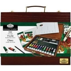 513886 Wooden Box Art Set Oil Painting 26pc