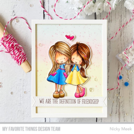 """TI001 My Favorite Things Tiddly Inks Stamps Definition Of Friendship 4""""X4"""""""