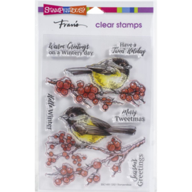 SSC1405 Stampendous Perfectly Clear Stamps Chickadee Holiday