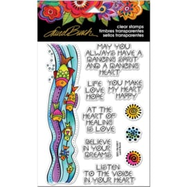 "375832 Stampendous Laurel Burch Clear Stamps Fish Wishes 7.25""x4.625"""
