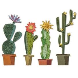 665365  Sizzix Thinlits Die Set Funky Cactus  Tim Holtz 9PK