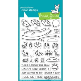 """LF2221 Lawn Fawn Clear Stamps A Bug Deal 4""""X6"""""""